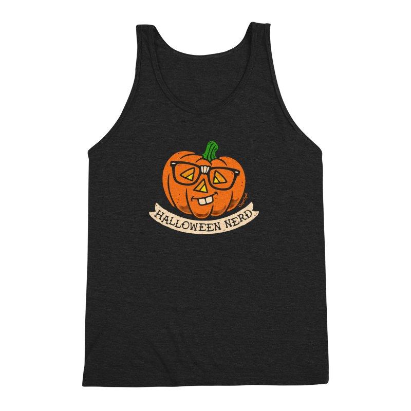 Halloween Nerd Men's Triblend Tank by Casper Spell's Shop