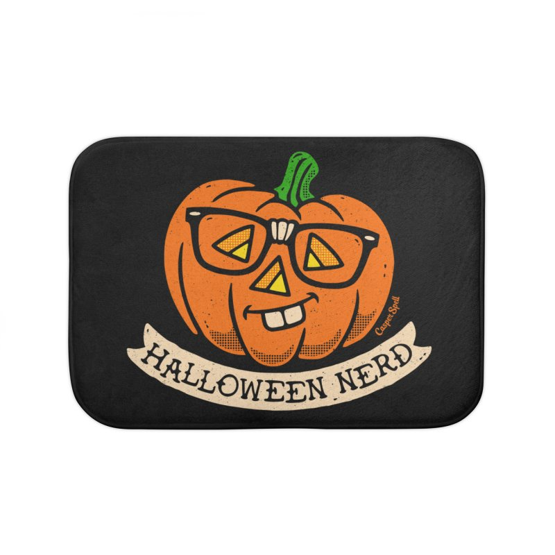 Halloween Nerd Home Bath Mat by Casper Spell's Shop