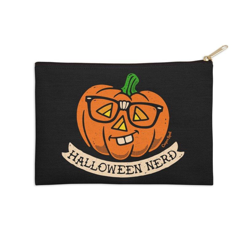 Halloween Nerd Accessories Zip Pouch by Casper Spell's Shop