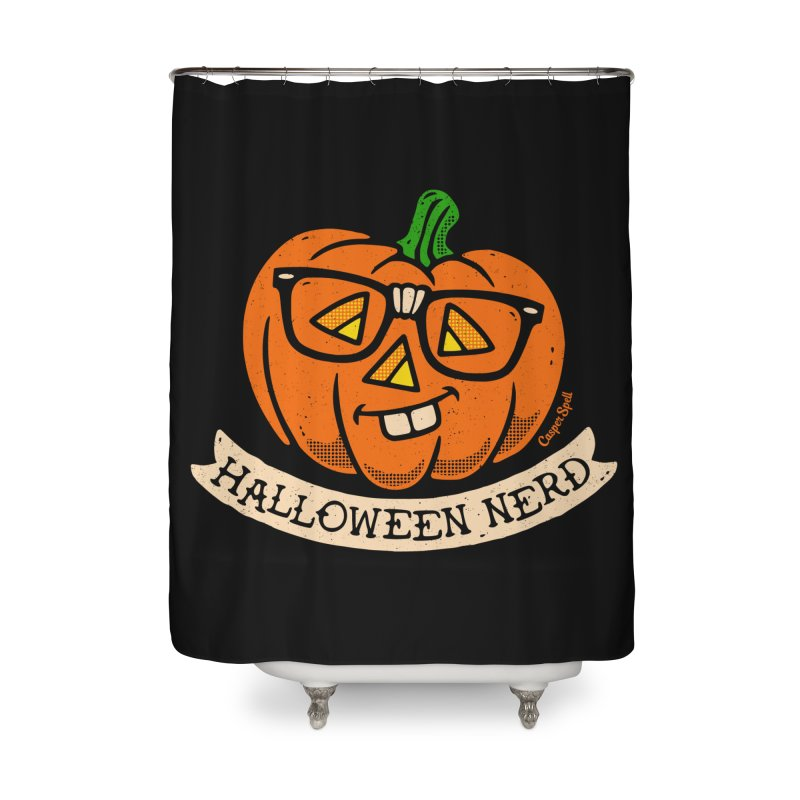 Halloween Nerd Home Shower Curtain by Casper Spell's Shop