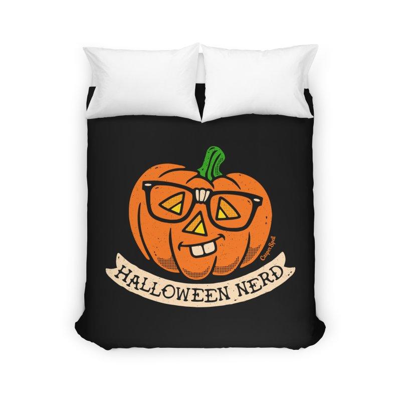 Halloween Nerd Home Duvet by Casper Spell's Shop