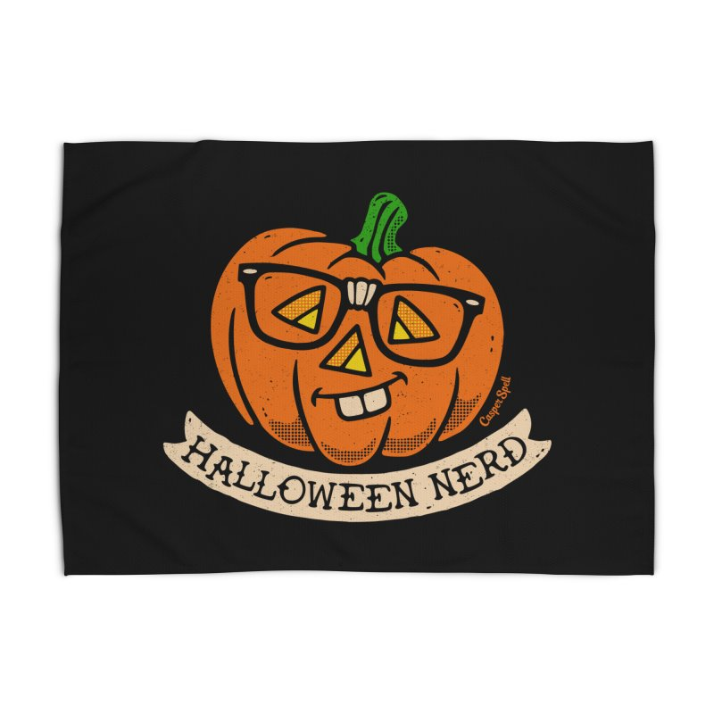 Halloween Nerd Home Rug by Casper Spell's Shop