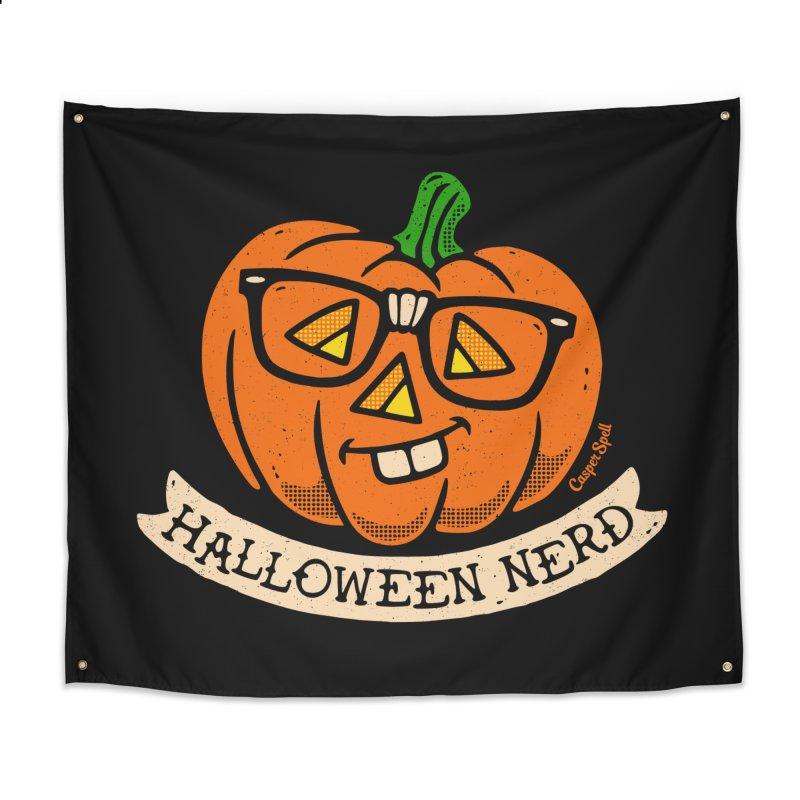 Halloween Nerd Home Tapestry by Casper Spell's Shop