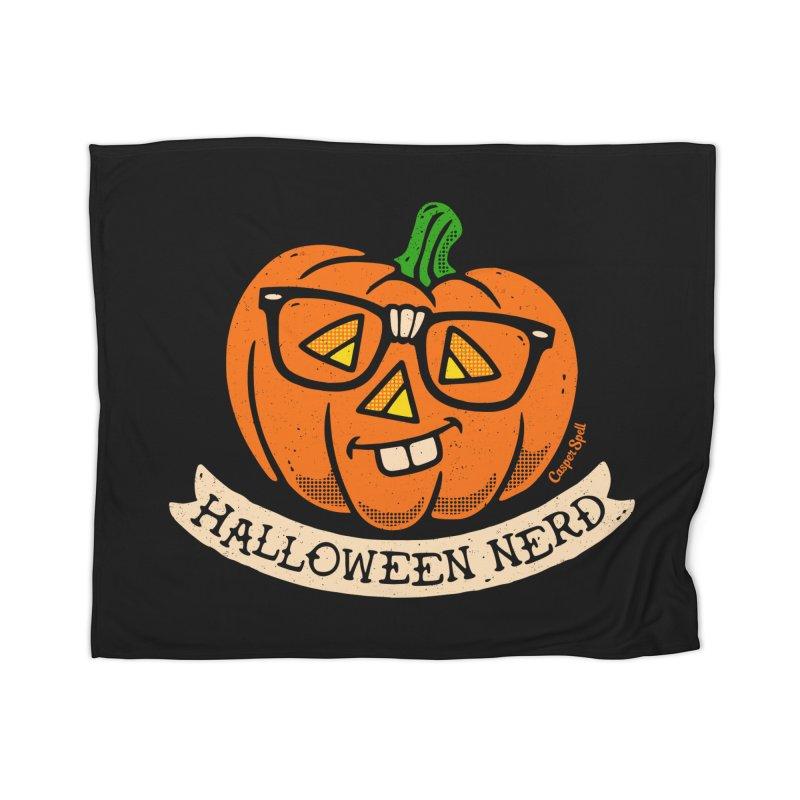 Halloween Nerd Home Blanket by Casper Spell's Shop