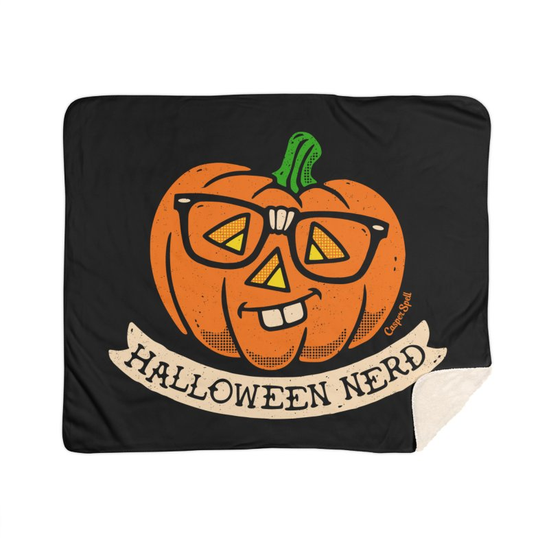 Halloween Nerd Home Sherpa Blanket Blanket by Casper Spell's Shop
