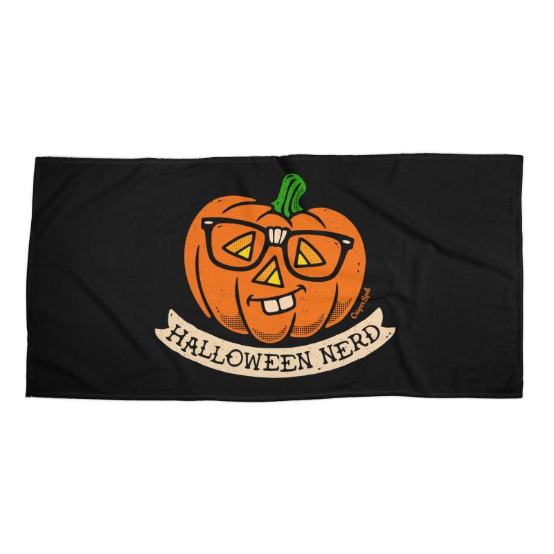Halloween Nerd Accessories Beach Towel by Casper Spell's Shop