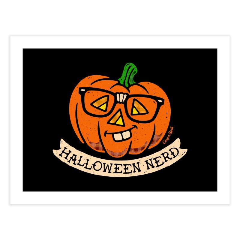 Halloween Nerd Home Fine Art Print by Casper Spell's Shop
