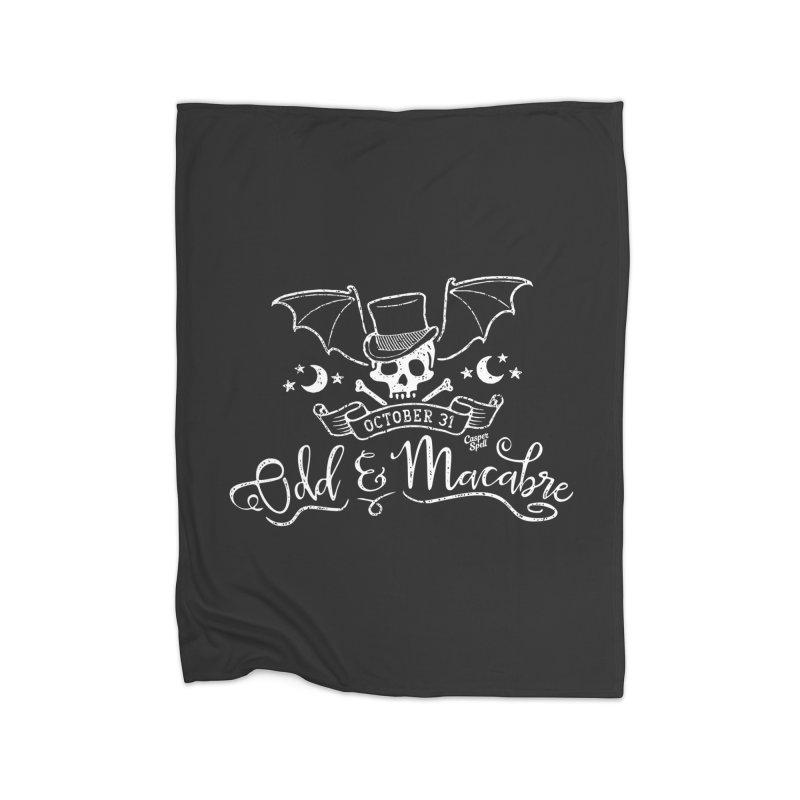 Odd and Macabre Home Fleece Blanket Blanket by Casper Spell's Shop