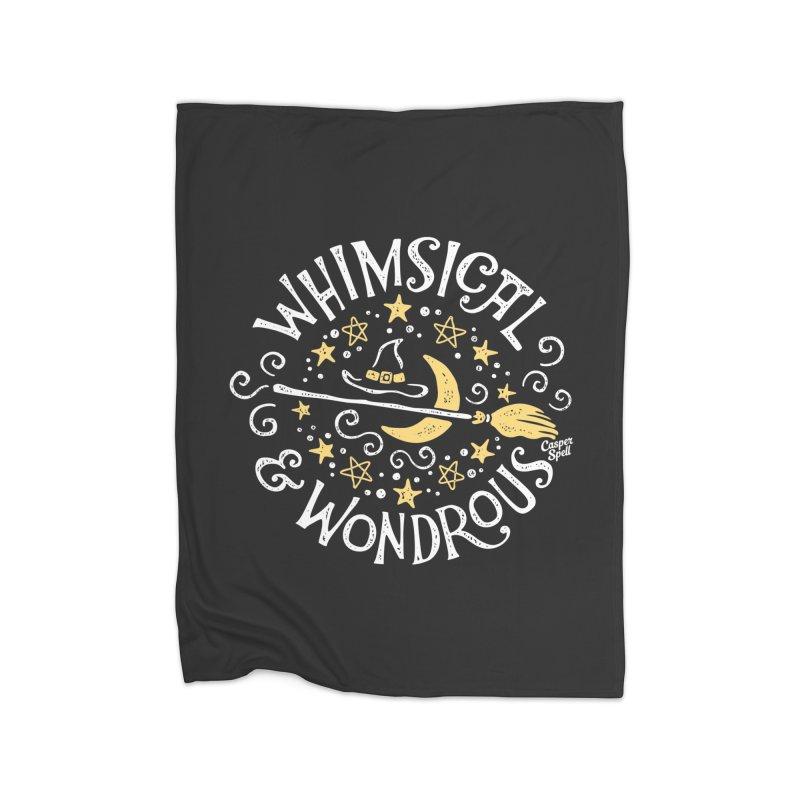 Whimsical and Wondrous Home Fleece Blanket Blanket by Casper Spell's Shop