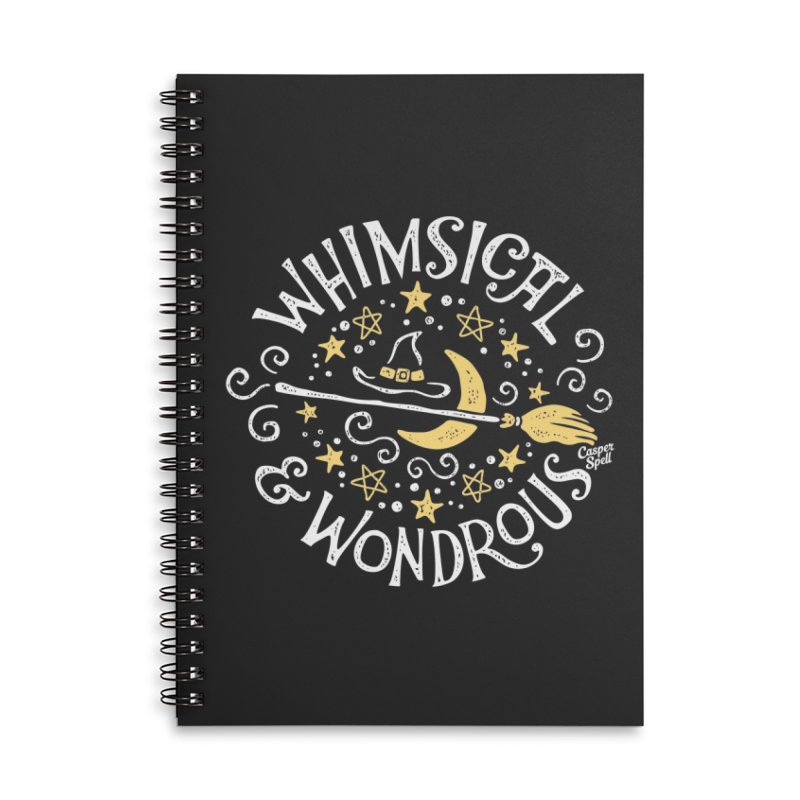 Whimsical and Wondrous Accessories Notebook by Casper Spell's Shop