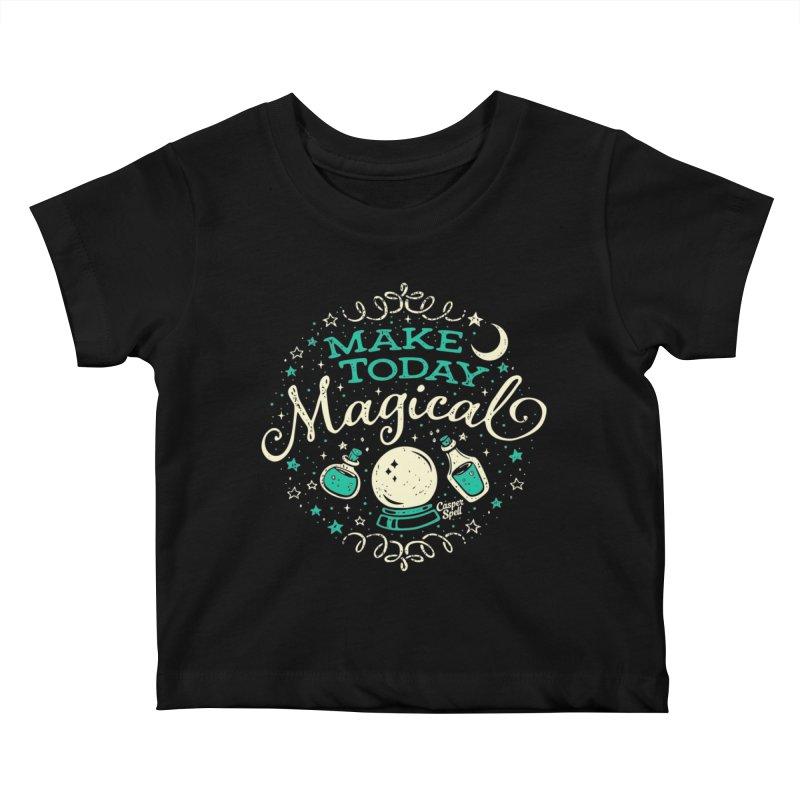 Make Today Magical Kids Baby T-Shirt by Casper Spell's Shop