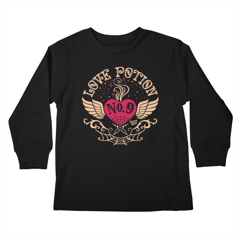 Love Potion No. 9 Kids Longsleeve T-Shirt by Casper Spell's Shop