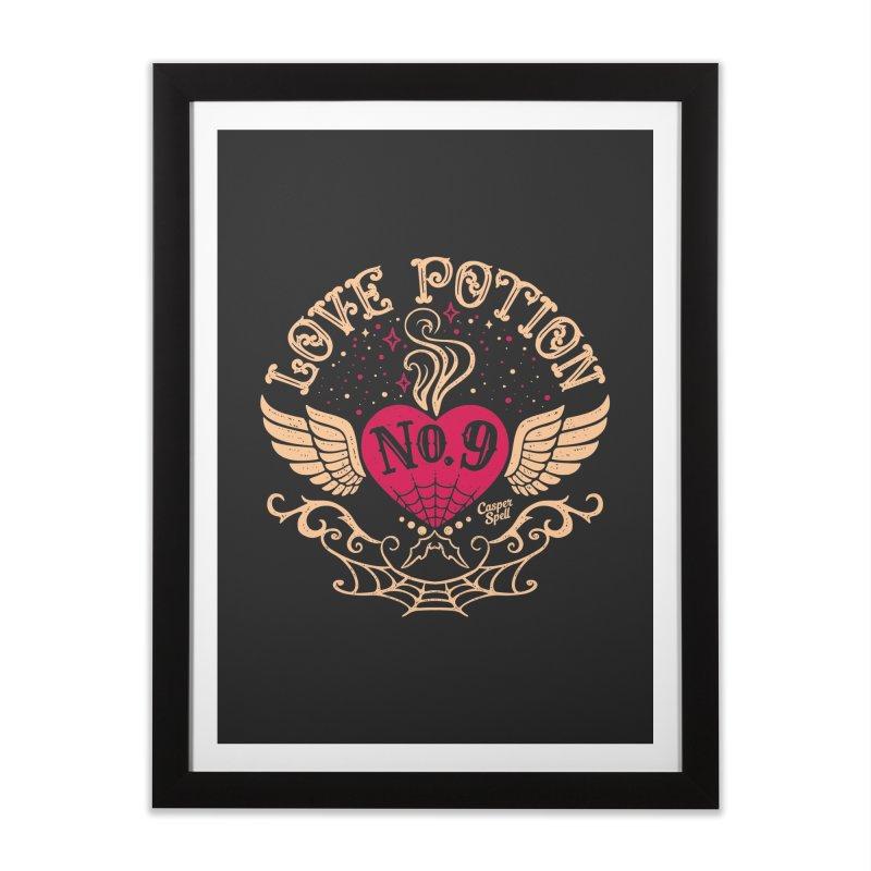 Love Potion No. 9 Home Framed Fine Art Print by Casper Spell's Shop