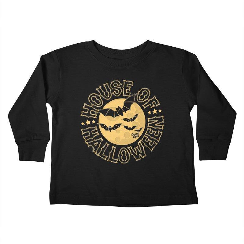 House of Halloween Kids Toddler Longsleeve T-Shirt by Casper Spell's Shop