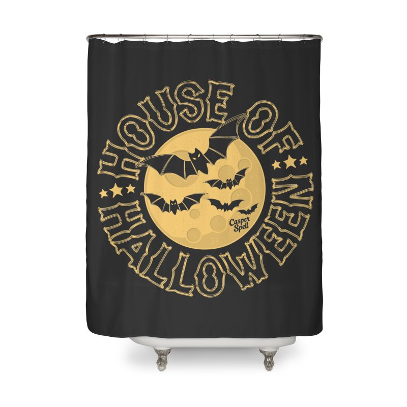 House of Halloween Home Shower Curtain by Casper Spell's Shop