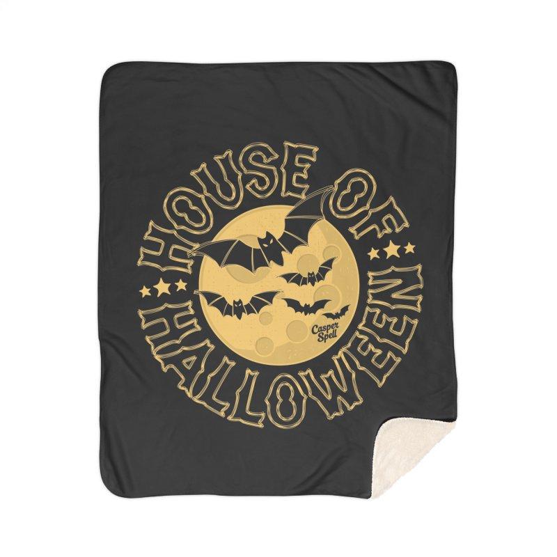 House of Halloween Home Blanket by Casper Spell's Shop