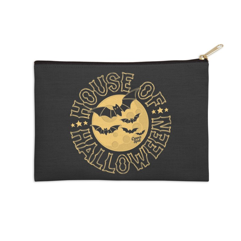 House of Halloween Accessories Zip Pouch by Casper Spell's Shop