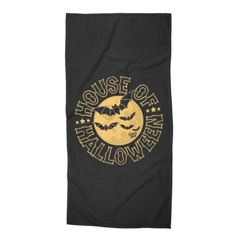 House of Halloween Accessories Beach Towel by Casper Spell's Shop