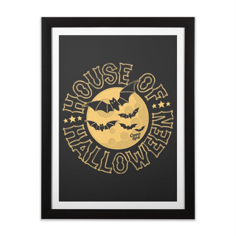 House of Halloween Home Framed Fine Art Print by Casper Spell's Shop