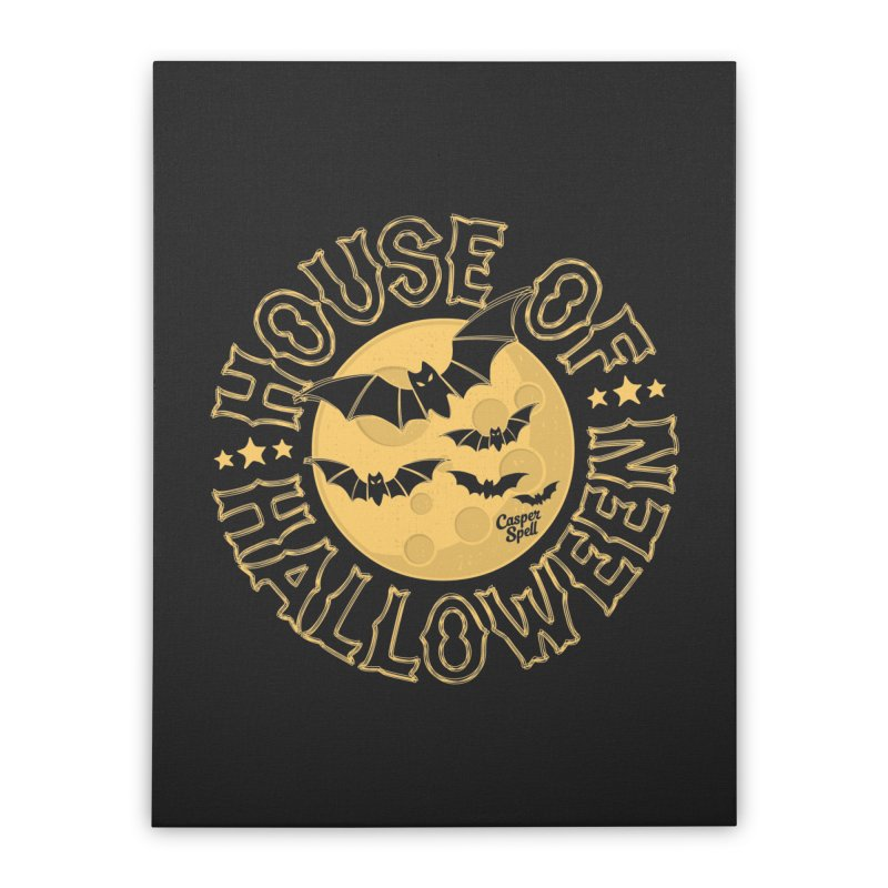 House of Halloween Home Stretched Canvas by Casper Spell's Shop