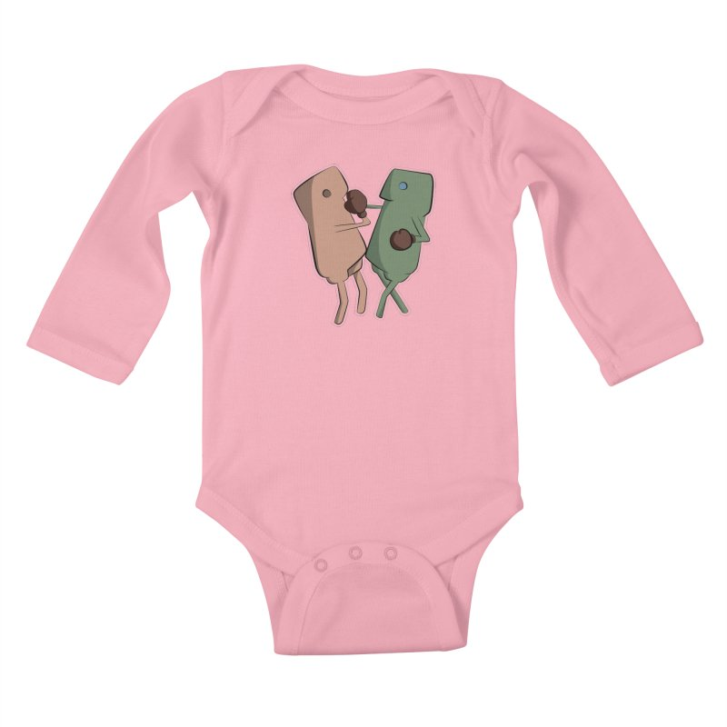 Fighting Vs Kids Baby Longsleeve Bodysuit by Castaneda Designs