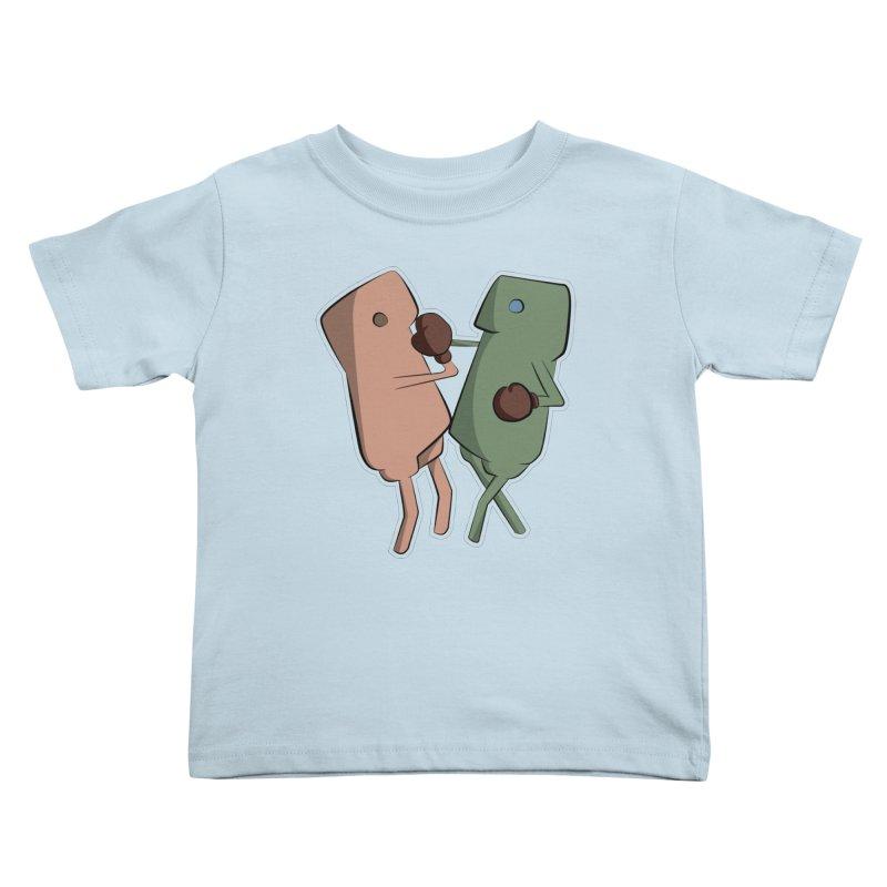 Fighting Vs Kids Toddler T-Shirt by Castaneda Designs