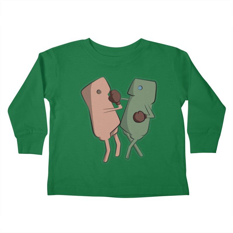 Fighting Vs Kids Toddler Longsleeve T-Shirt by Castaneda Designs