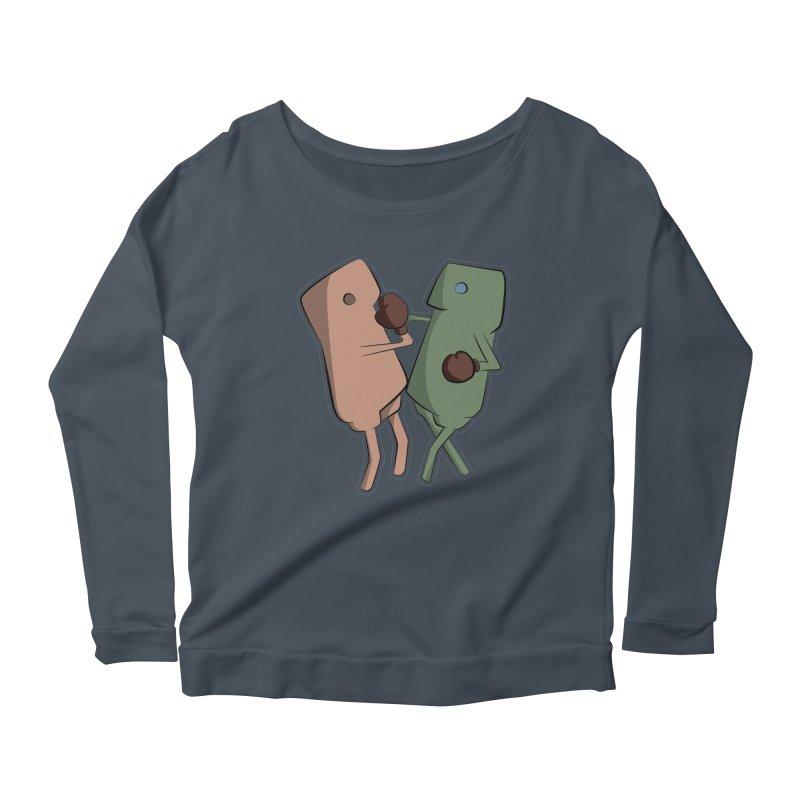 Fighting Vs Women's Scoop Neck Longsleeve T-Shirt by Castaneda Designs