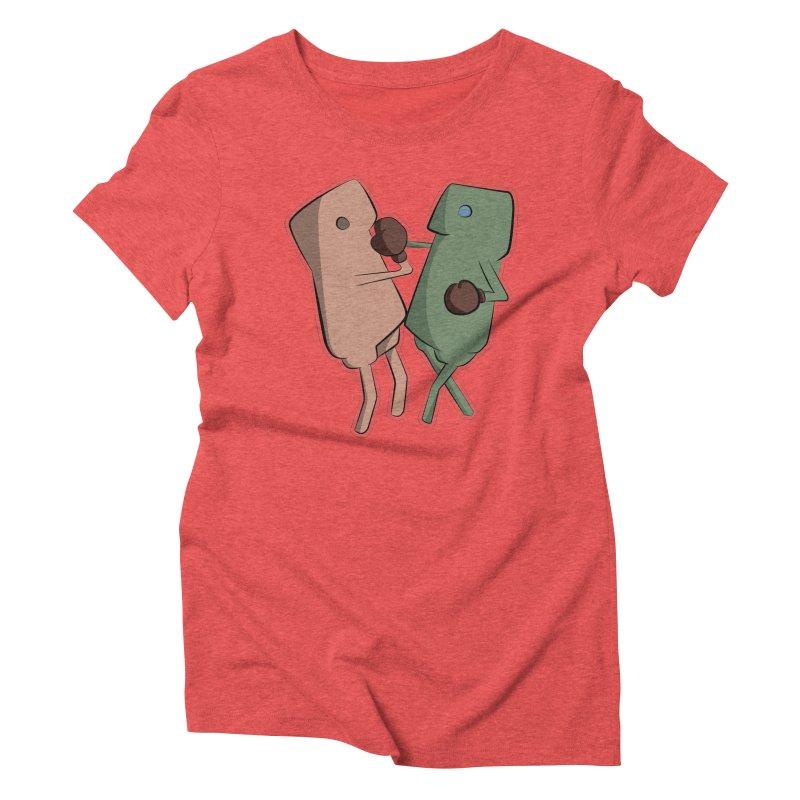 Fighting Vs Women's Triblend T-Shirt by Castaneda Designs