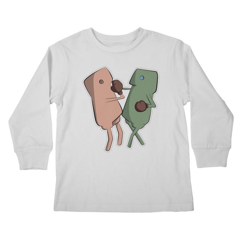 Fighting Vs Kids Longsleeve T-Shirt by Castaneda Designs