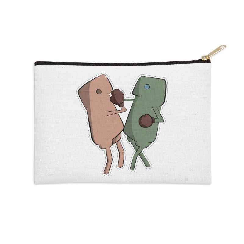 Fighting Vs Accessories Zip Pouch by Castaneda Designs