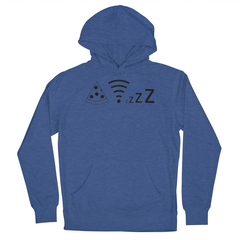 Pizza Wifi Naps Men's Pullover Hoody by Castaneda Designs