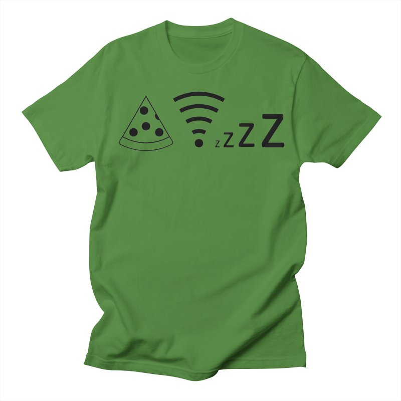 Pizza Wifi Naps Women's Regular Unisex T-Shirt by Castaneda Designs