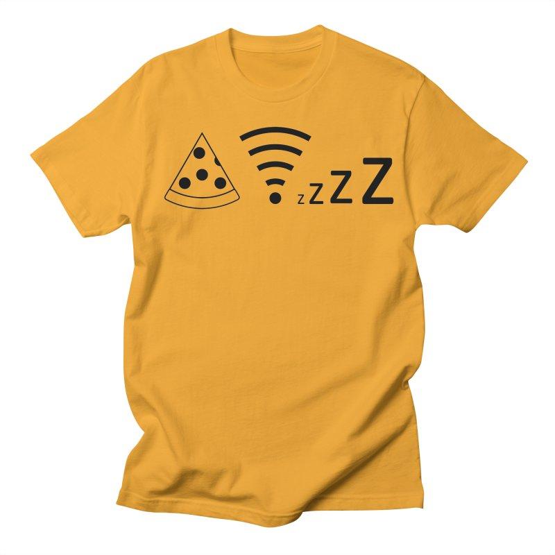 Pizza Wifi Naps Women's Regular Unisex T-Shirt by Castaneda Designs