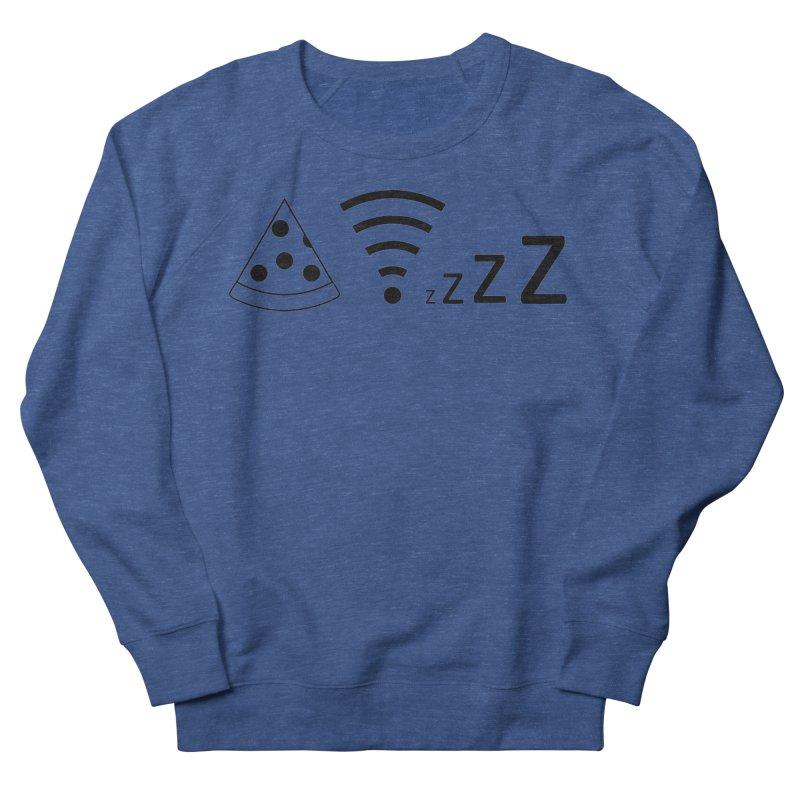Pizza Wifi Naps Women's French Terry Sweatshirt by Castaneda Designs