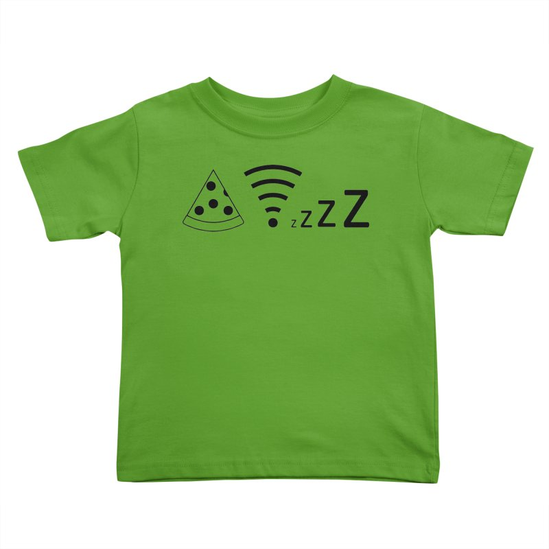Pizza Wifi Naps Kids Toddler T-Shirt by Castaneda Designs