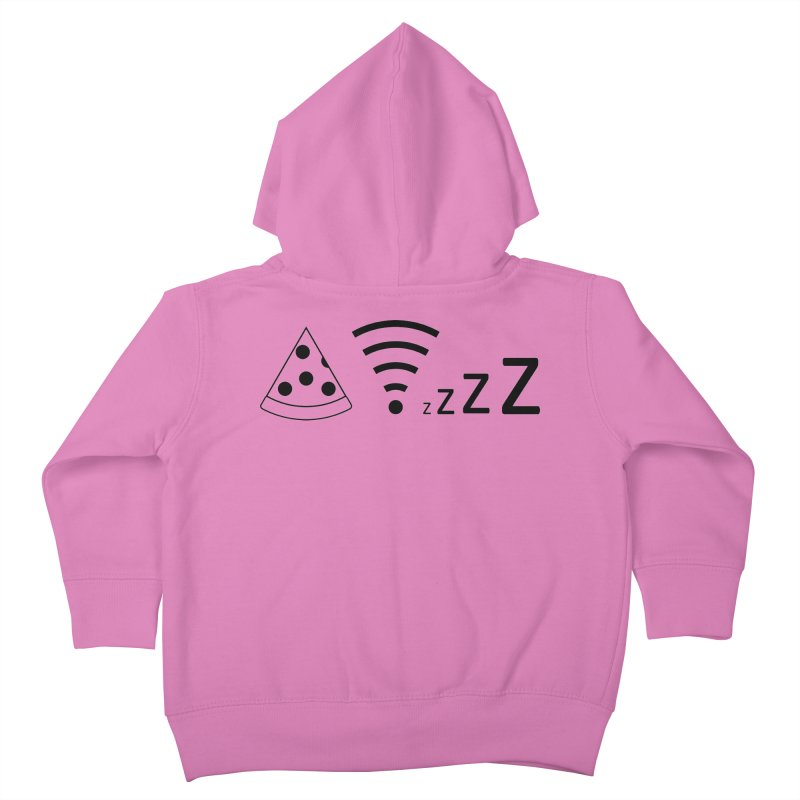 Pizza Wifi Naps Kids Toddler Zip-Up Hoody by Castaneda Designs