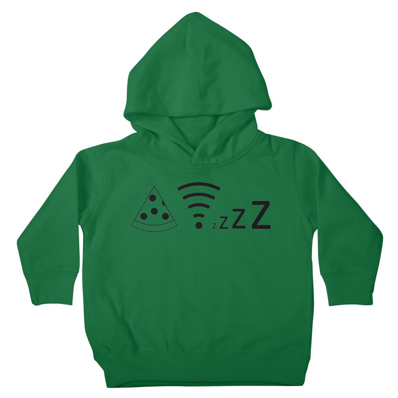 Pizza Wifi Naps Kids Toddler Pullover Hoody by Castaneda Designs