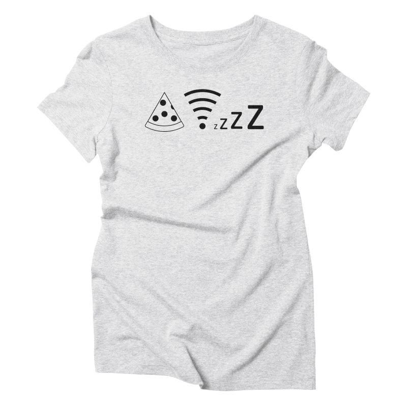 Pizza Wifi Naps Women's Triblend T-Shirt by Castaneda Designs
