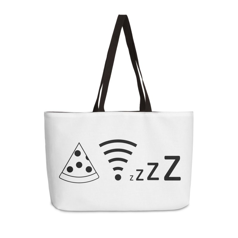 Pizza Wifi Naps Accessories Weekender Bag Bag by Castaneda Designs
