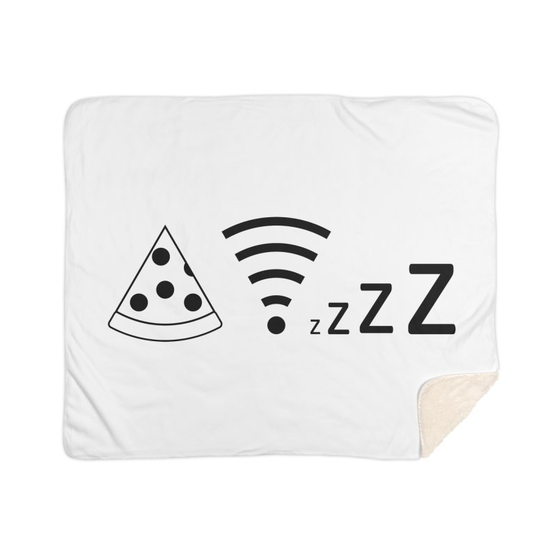 Pizza Wifi Naps Home Sherpa Blanket Blanket by Castaneda Designs