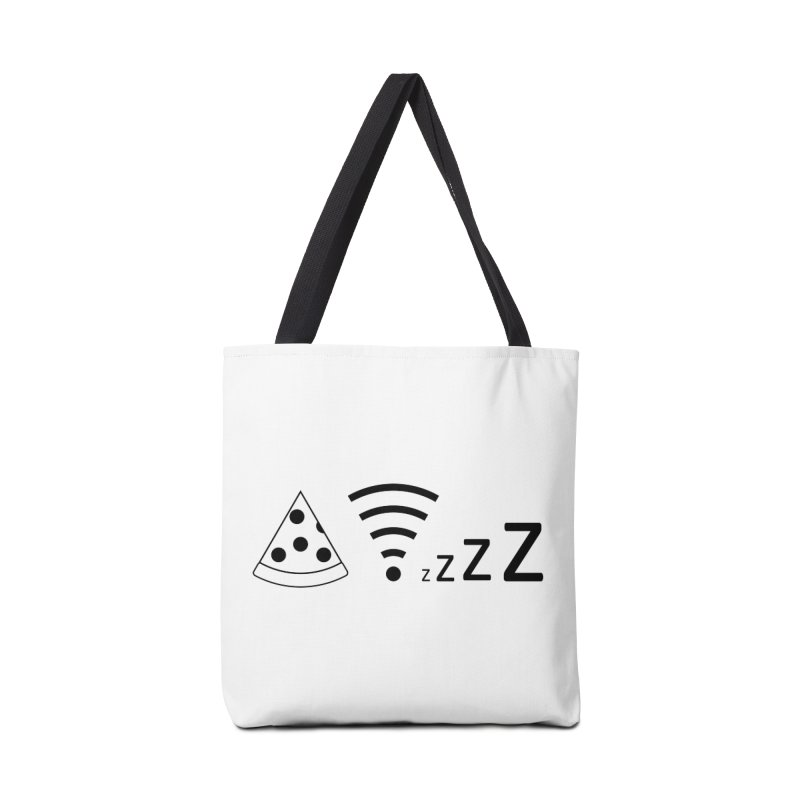 Pizza Wifi Naps Accessories Tote Bag Bag by Castaneda Designs