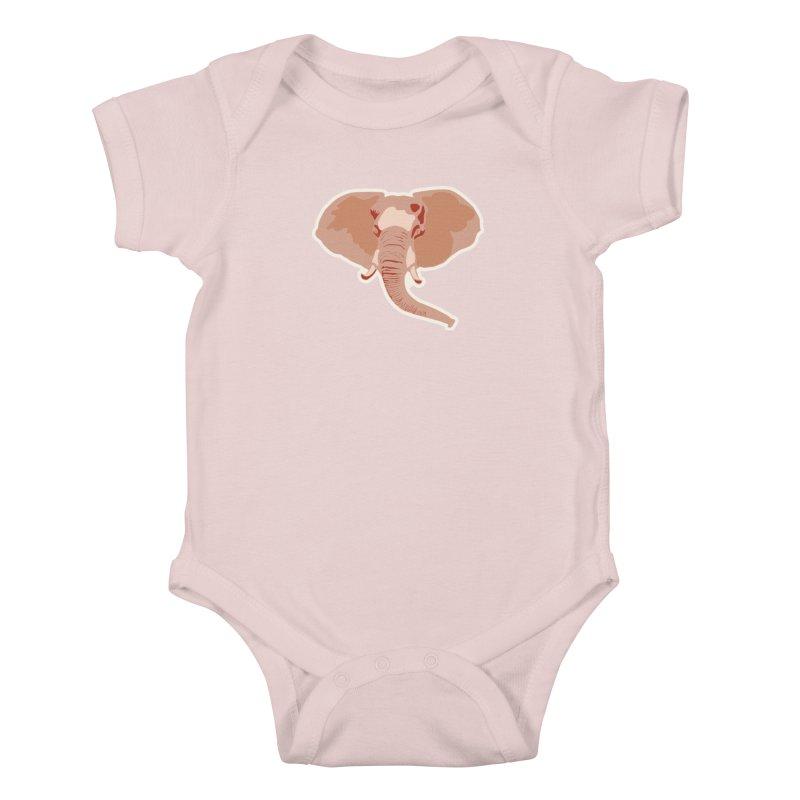 Elephant Kids Baby Bodysuit by Castaneda Designs