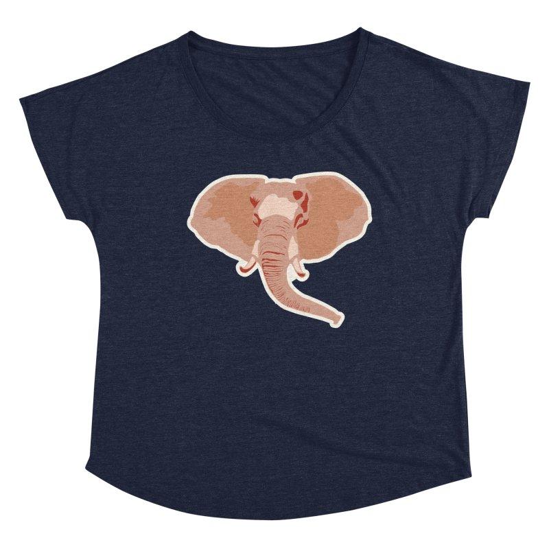 Elephant Women's Dolman Scoop Neck by Castaneda Designs