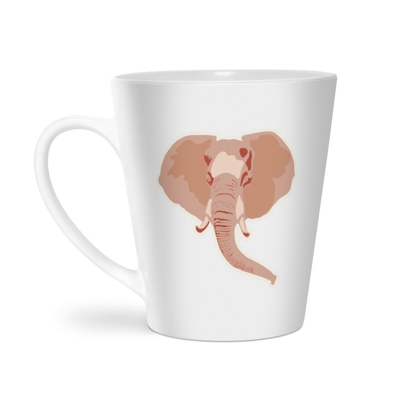 Elephant Accessories Latte Mug by Castaneda Designs