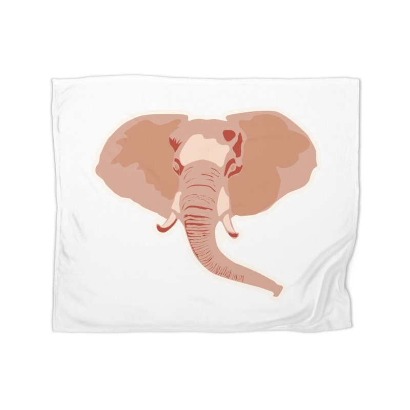 Elephant Home Blanket by Castaneda Designs