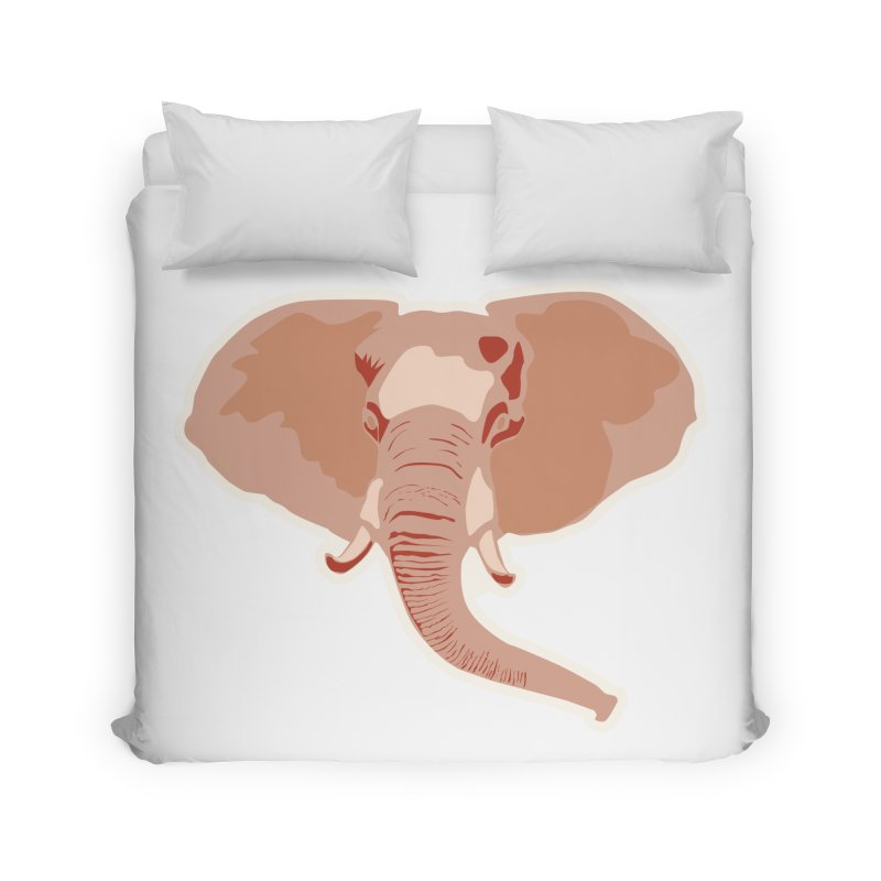 Elephant Home Duvet by Castaneda Designs