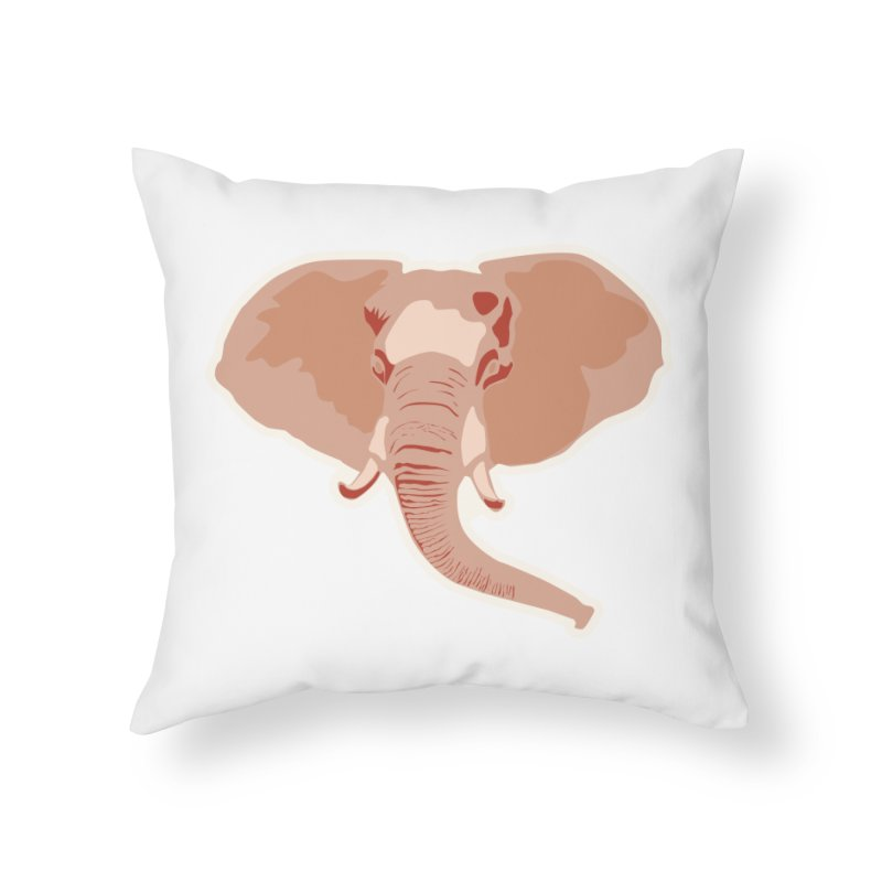 Elephant Home Throw Pillow by Castaneda Designs