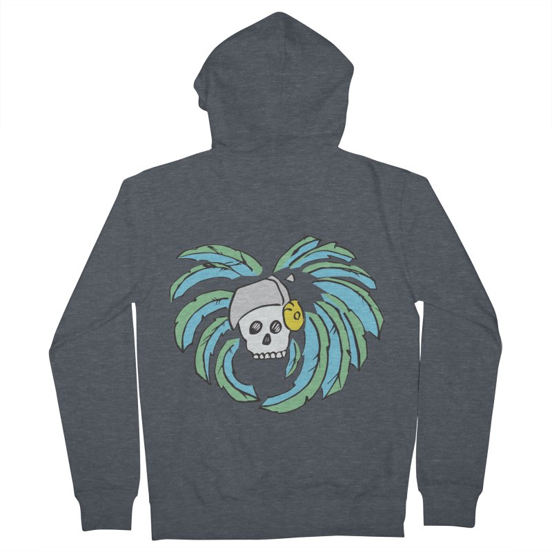 Heart of an Aztec Men's French Terry Zip-Up Hoody by Castaneda Designs