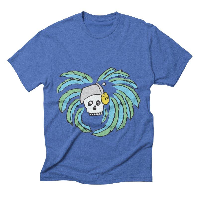 Heart of an Aztec Men's Triblend T-Shirt by Castaneda Designs